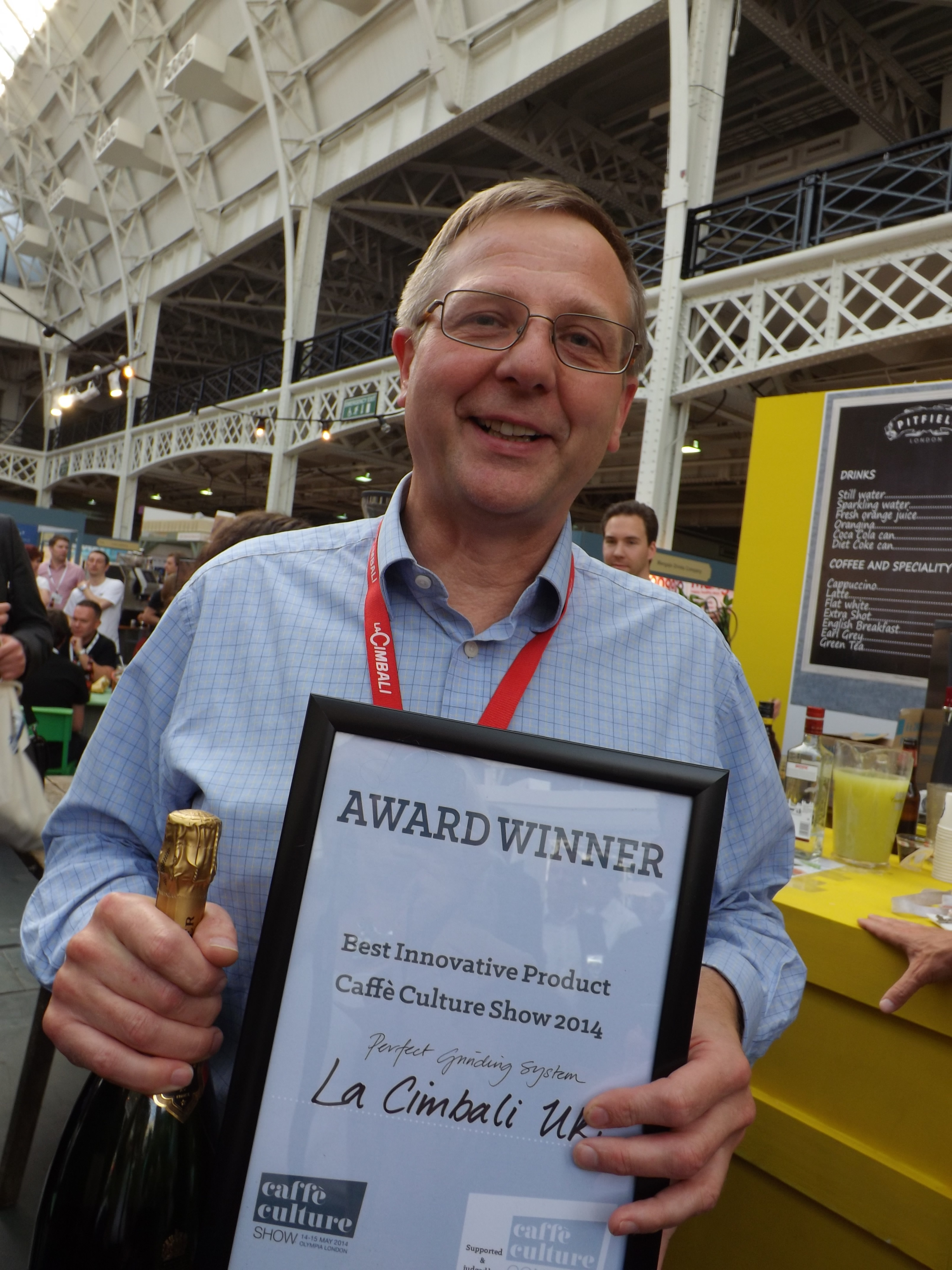 Carl Bjorkstrand - Cimbali UK Best Innovative Product Cafe Culture Show