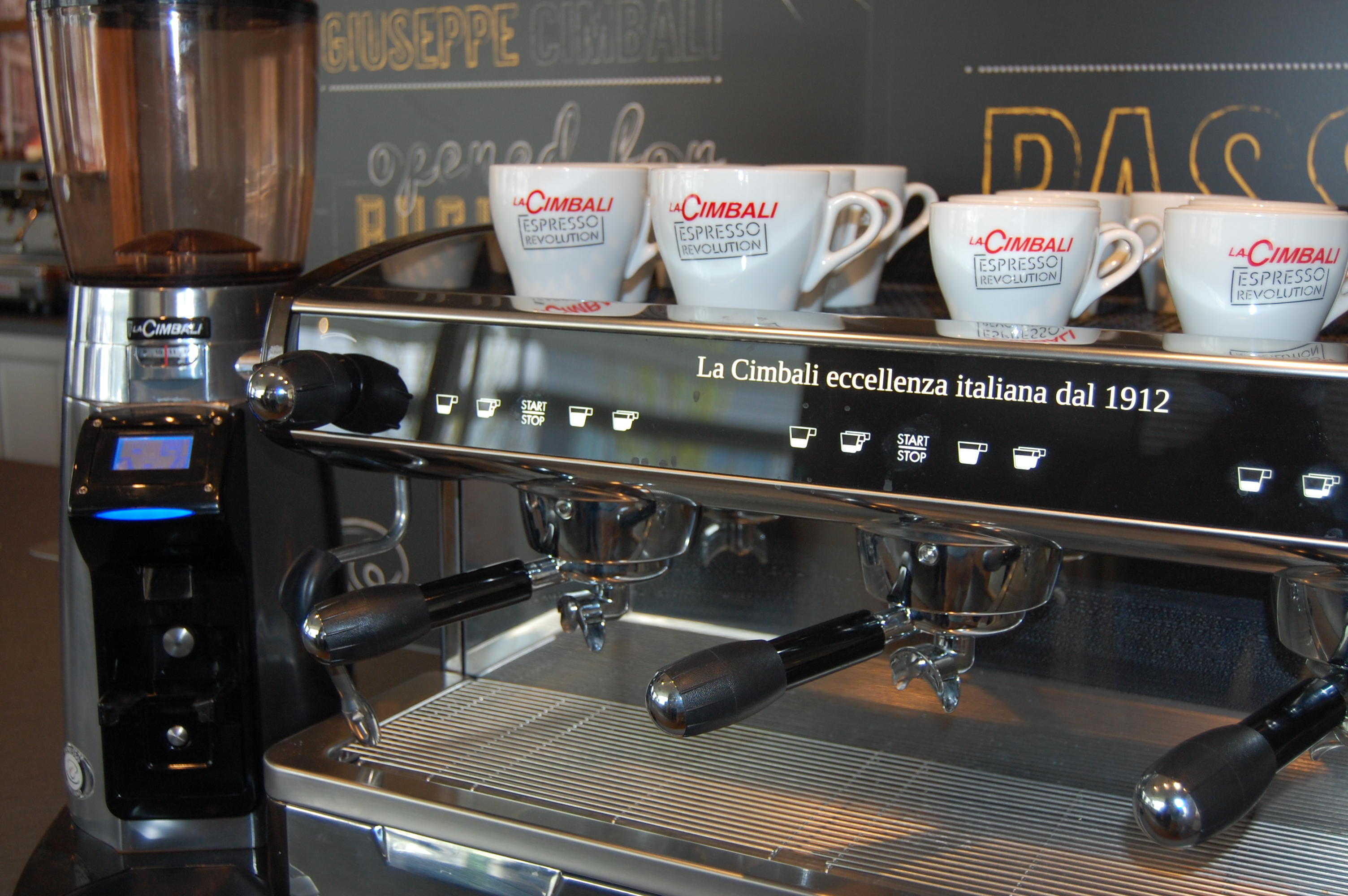 Cimbali M34 Coffee Machine with integral PGS BLue Tooth Grinder